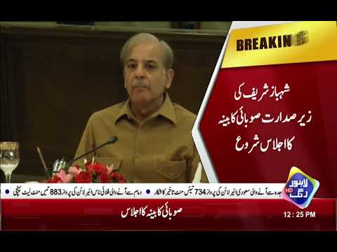 Provincial cabinet Meeting held under Shahbaz Sharif, Change in Law expected