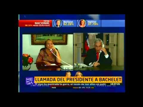 El llamado de Sebastián Piñera felicitando a la Presidenta electa Michelle Bachelet