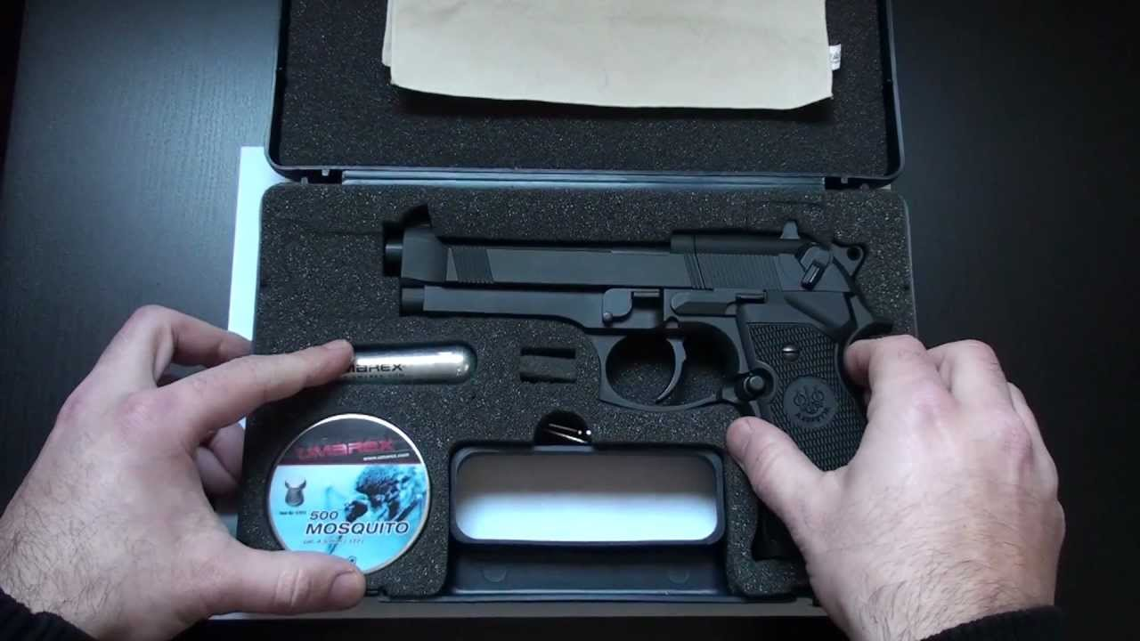 Umarex Beretta M 92 FS .177 Caliber CO2 Pellet Pistol Review - YouTube