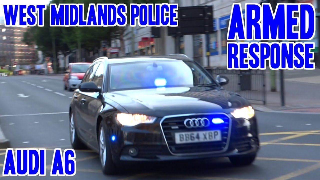 Police Responding Unmarked Police Armed Response Audi A6 X2