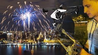 FLYING DRONE OVER FIREWORKS!!!