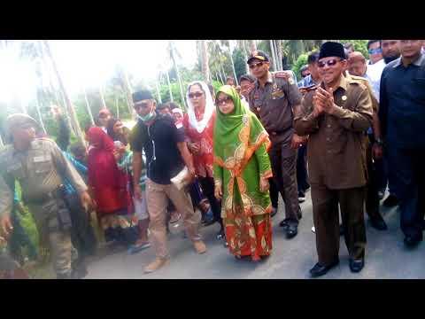 Kunker gubernur maluku utara KH.abdul gani kasuba,Lc digalela kabupaten halmahera utara.