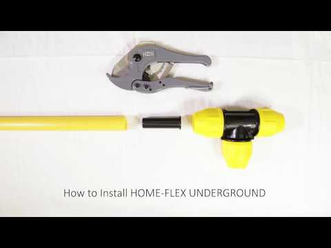 How to Use HOME-FLEX UNDERGROUND Yellow Polyethylene Gas Pipe and Fittings