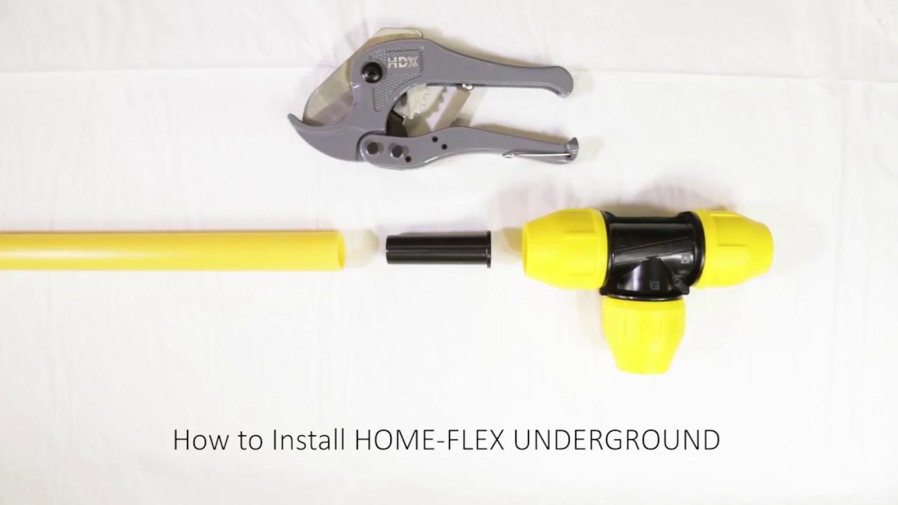 How To Use HOME-FLEX UNDERGROUND Yellow Polyethylene Gas