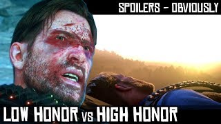 Low Honor vs High Honor - Help John Get To Safety (Sad End) Red Dead Redemption 2
