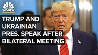 Präsident Trump und der Ukrainische Präsident sprechen nach bilateralen treffen – 09/25/2019