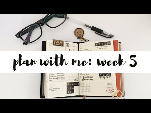Plan With Me Week 5 (Travelers Notebook Planner)