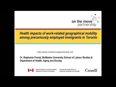 Health impact of commuting among new immigrants in precarious jobs, Feb 10, 2015