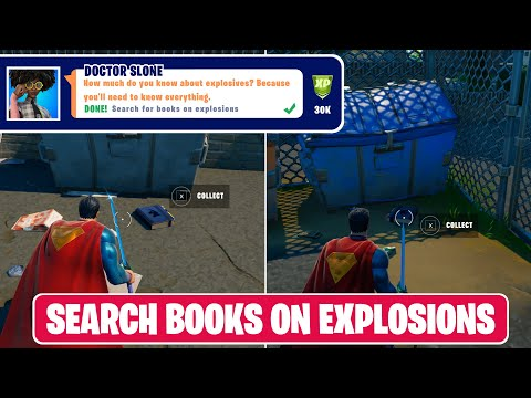 Search for Books on Explosions (2) - Fortnite Locations
