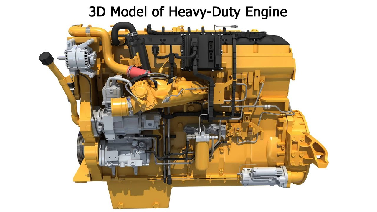 Truck engine 3d model heavy duty engines youtube for 3d search engine