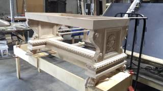 Custom Carved Desk