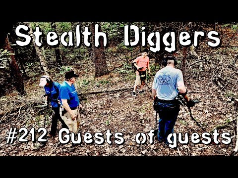 Guests of guests -#212 Cellar hole metal detecting 1800's relics coins NH with friends & family