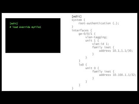 INTRODUCTION TO JUNOS - Tutorial - Load Merge, Override, Patch, Terminal  - [vDay One - Video #7]
