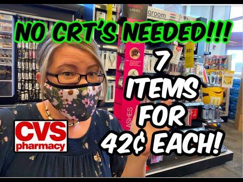 CVS – EASY NO CRT DEALS | GRAB 7 ITEMS FOR 42¢ EACH!