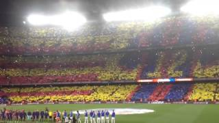 FC Barcelona 2 - Real Madrid 1 - Himne del Barça a Capella