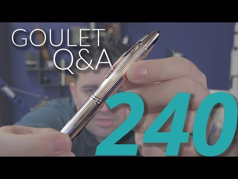 Goulet Q&A 240: Ink Sample Longevity, Collabs, and Using Food Coloring As Ink