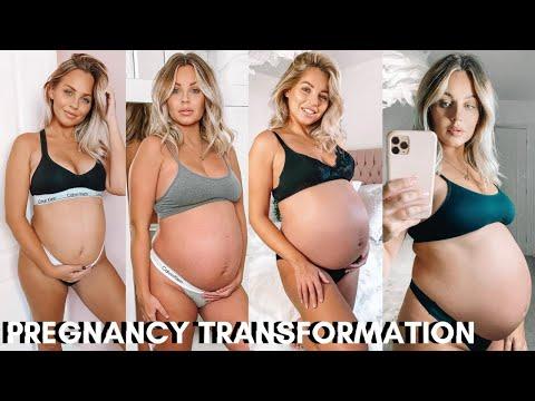 pregnancy-transformation-|-bump-week-by-week-*with-twins*-|-lucy-jessica-carter