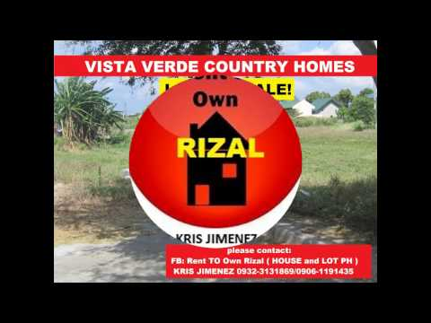 VISTA VERDE COUNTRY HOMES LOT FOR SALE _ CAINTA