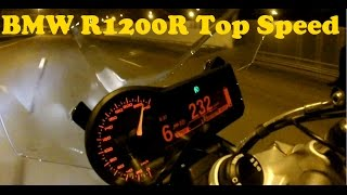 bMW R1200R 0-200 Km/h acceleration and Top Speed