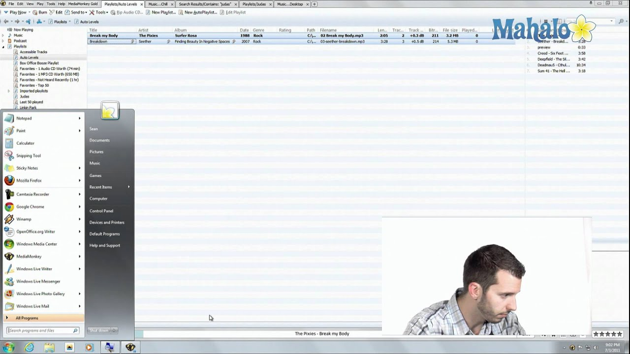 media monkey how to add miniplayer