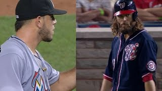 MIA@WSH: Werth, Fernandez stare down, make up