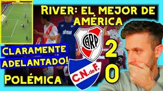 HINCHA de NACIONAL ENOJADO con RIVER vs NACIONAL 2-0 🏆 COPA LIBERTADORES 2020 *uruguayo reacciona