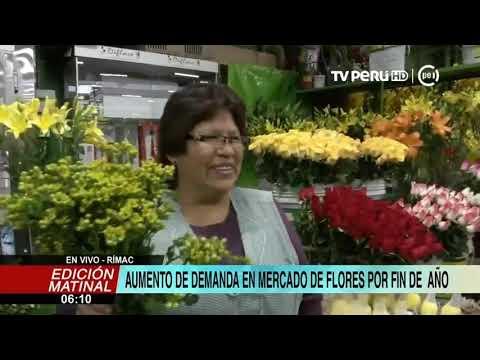 Año Nuevo: se incrementa venta en mercado de Flores por fin de año