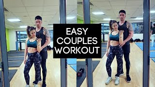 Easy Couples Workout | No Equipment Needed 💪