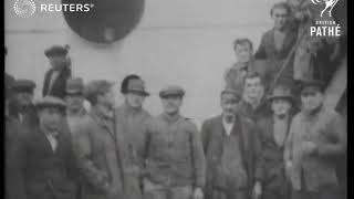WEATHER / TRANSPORT: Ship's crew rescued in gale and brought to Manchester (1929)