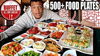 Ordering ENTIRE MENU At An ALL YOU CAN EAT BUFFET!!! (IMPOSSIBLE FOOD CHALLENGE) 500+ PLATES OF FOOD