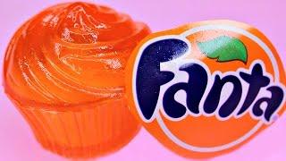 How to Make Fanta CupCake Jelly CUPS DIY Fanta Gummies 리얼 콜라 푸딩 젤리 만들기
