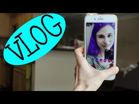 PURPLE HAIR?? VLOG: COLORESCEINCE GIVEAWAY, STATIONERY, CHOCOLATE FLAN| DR DRAY