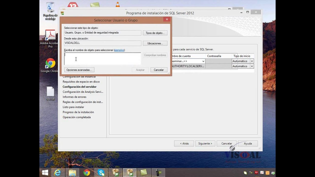 Instalacion en SQL Server del Análisis Servic…