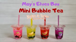 Sophie and Toffee May elves box - Bubble tea cafe unboxing and tutorial - watch me resin