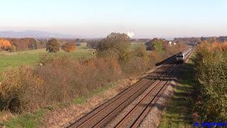 Goldener Herbst an der Ligne 4: 72100 brummen mit Intercite um Belfort und Vesoul