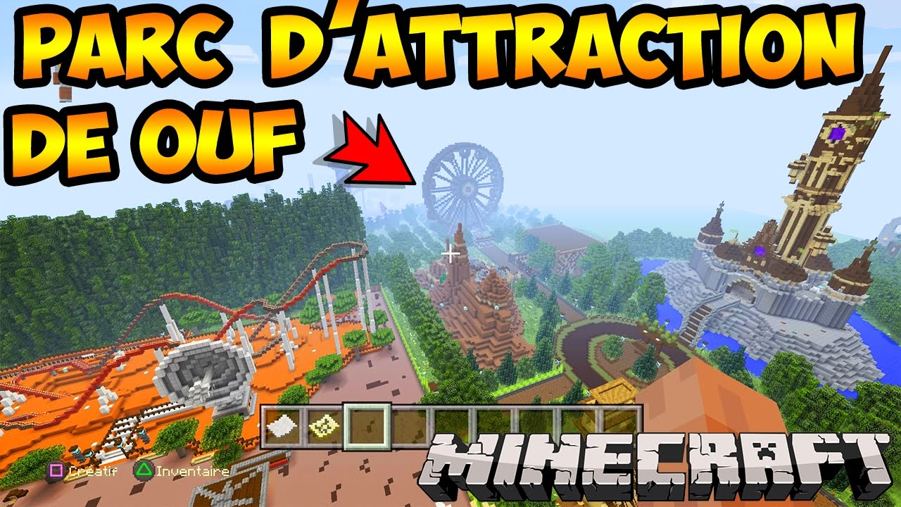 le plus beau parc d 39 attraction minecraft du monde visite