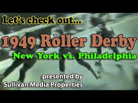 Roller Derby 1949: New York vs. Philadelphia || a classic TV encore
