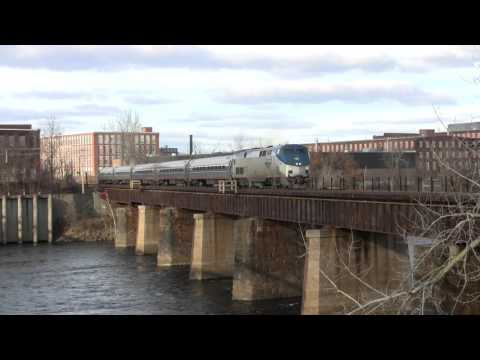 Amtrak Vermonter Holyoke, MA 12-20-2015