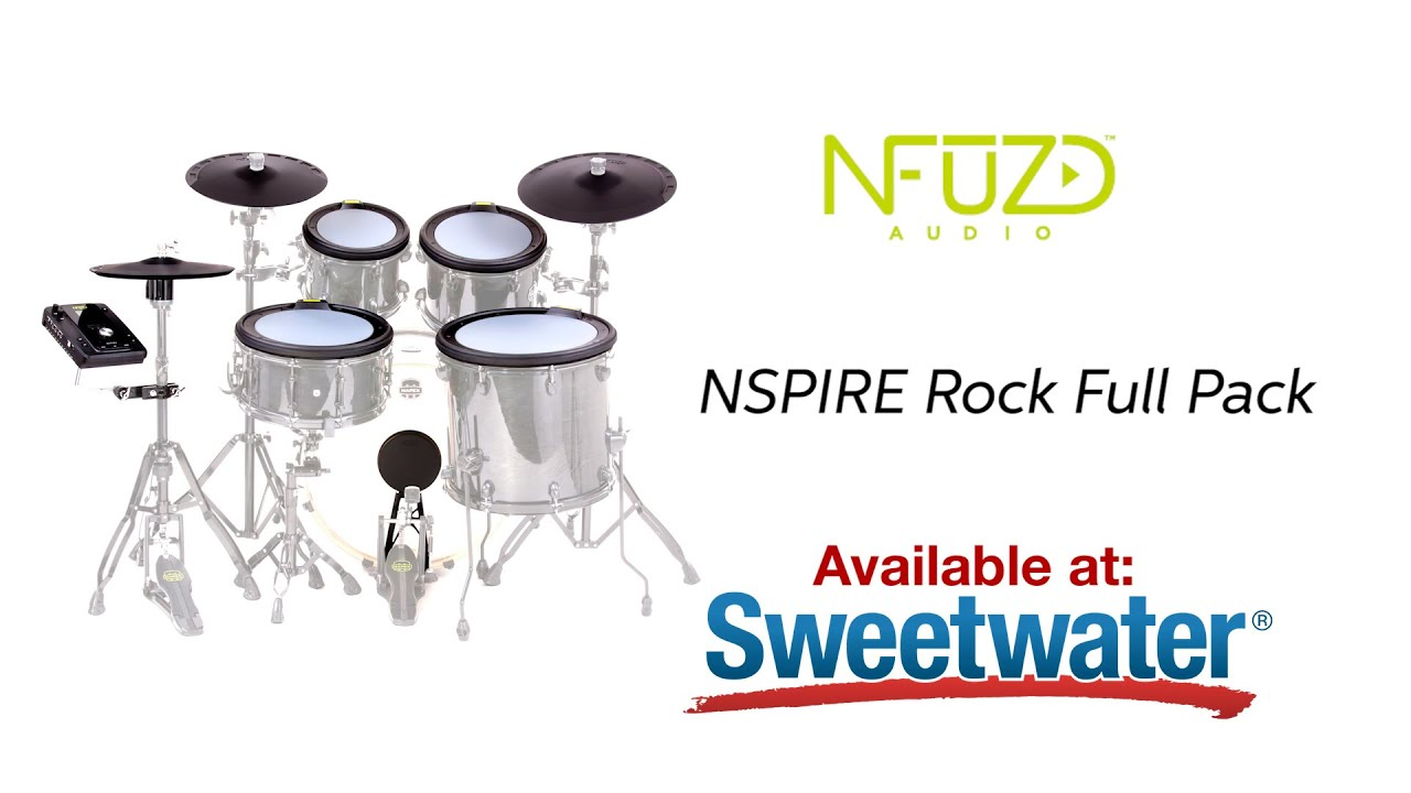 Nfuzd Audio NSPIRE Rock Full Pack Electronic Drum Pad Set with