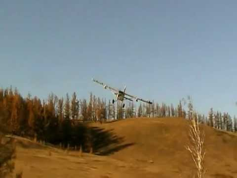 Pilatus PC-6 short field landing in Mongolia