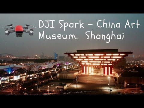 China Art Museum in Shanghai - DJI SPARK FOOTAGE