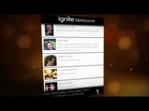 Ignite Melbourne on Android Promo