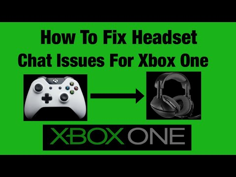 Xbox One | How To Fix Headset *chat Issues*