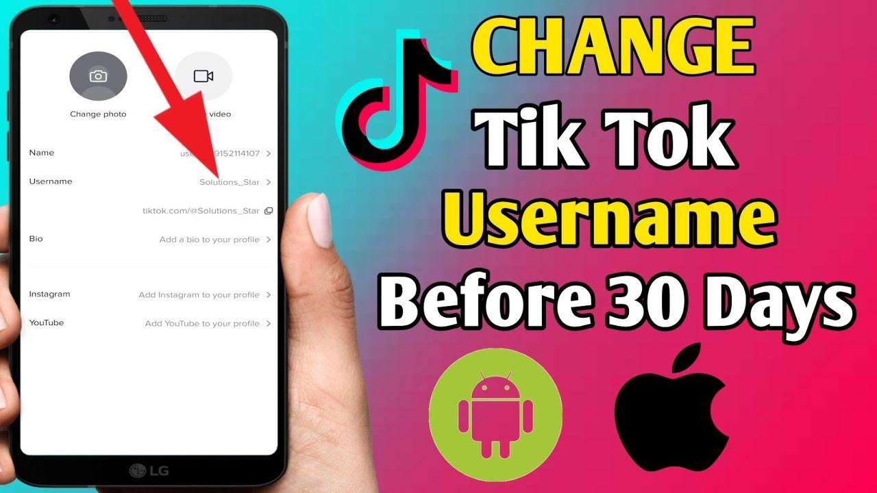 How To Change Tiktok Username Before 30 Days Change Tiktok Username Without Waiting 30 Days Tiktok Youtube