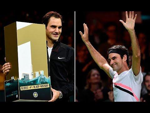 Roger Federer becomes oldest No 1 in sport's history