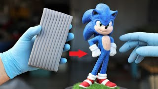 Turn Clay into Sonic the Hedgehog (movie version)