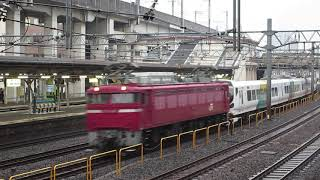 配9751レ EF81-140牽引 E257系 M-103編成 配給 ヒガジュウ 2018/11/06