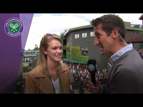 Sam Querrey's girlfriend Abby Dixon talks about him reaching Wimbledon 2017 semi-finals