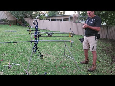 home made hooter shooter bow shooting machine