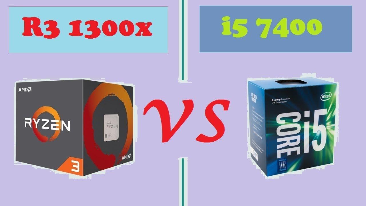 Ryzen 3 1300x VS i5 7400 (FPS Benchmark) - YouTube